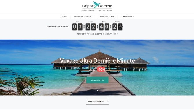 Depart Demain page accueil