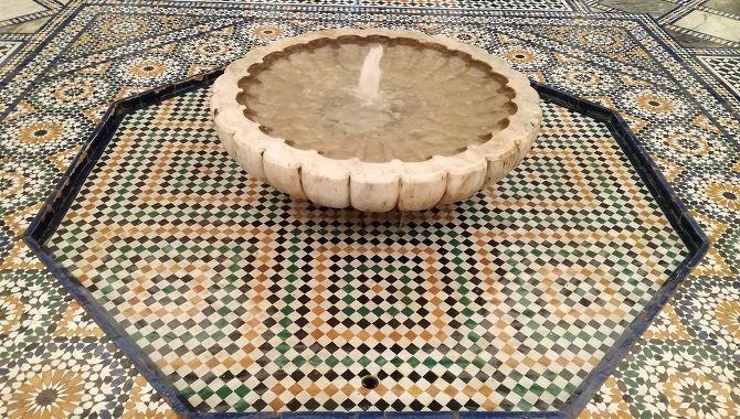 Marrakech Palais musee vasque