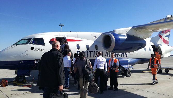 Sun Air Dornier 328 boarding Toulouse