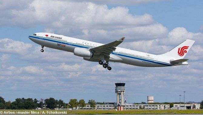 Air China A330 take off