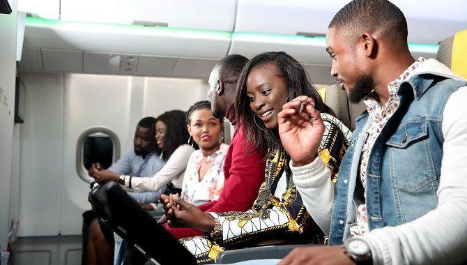 Air Senegal passagers en cabine