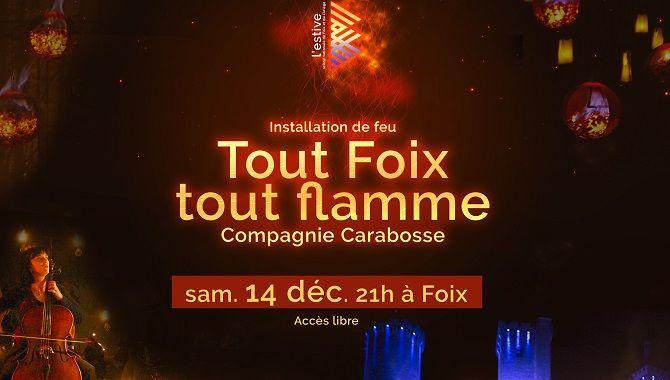 Foix affiche Tout Foix Tout Flamme 2019