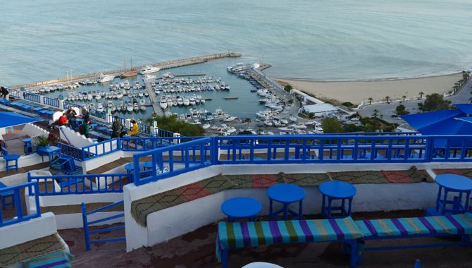 Tunisie Sidi Bou Said cafe des delices terrasse
