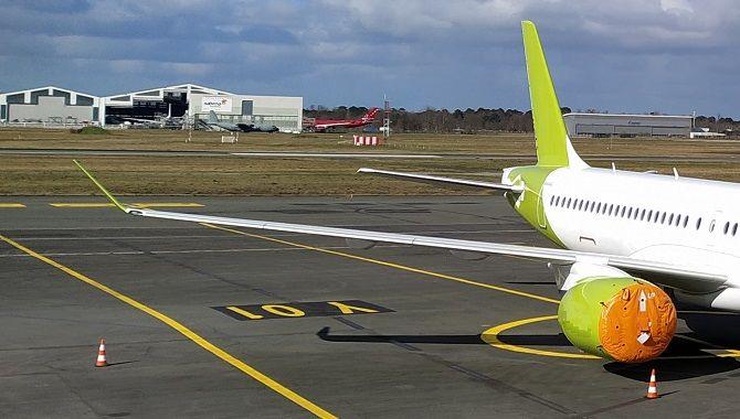 Avion stocke