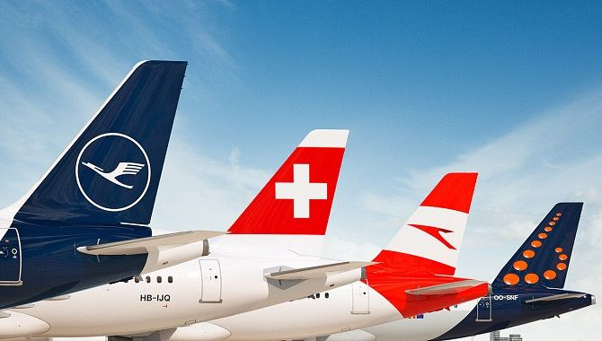 Lufthansa Group empennages