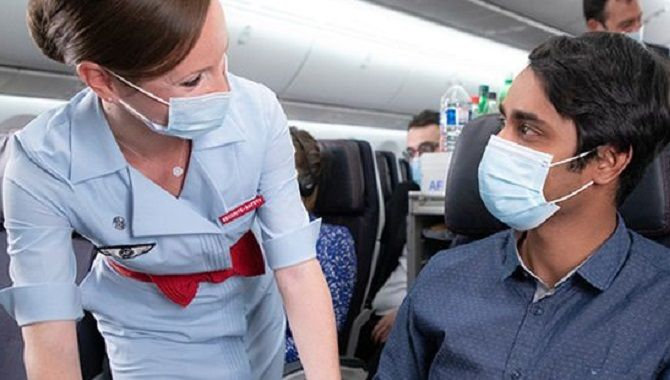 Air France Coronavirus masques