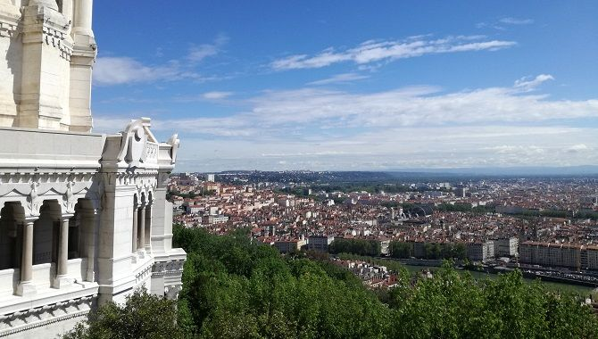 Lyon panorama basilique