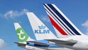 Transavia KLM Air France tails